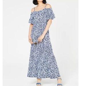 New Michael Kors Cold-Shoulder Maxi Dress M